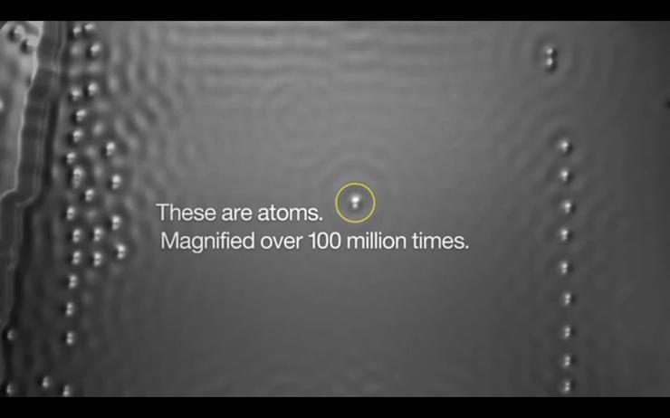 IBM magnified atoms