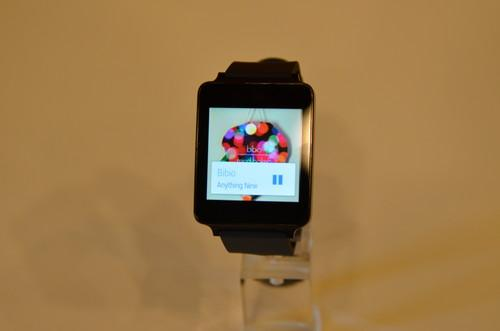 LG's G smartwatch was also on display at Google I/O.