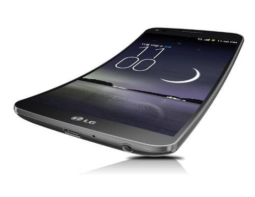 The new LG G Flex phone.