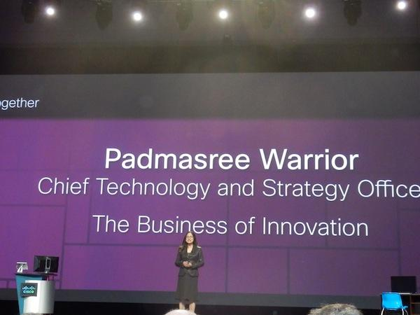 Cisco chief technology officer and chief strategy officer, Padmasree Warrior