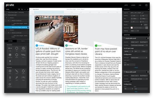 Pixate's Web-based development tool.