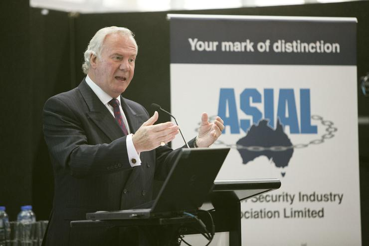 Bank of England's Randall (pictured) presented the keynote address on how to create safer communities through engaging with public and private security partnerships.