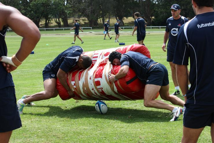 Analytics will be used by the NWS Waratahs to help prevent injuries during training (pictured) and on the field.