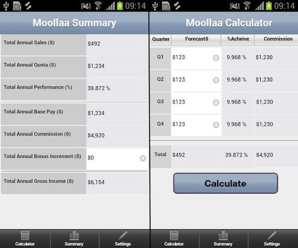 Moollaa Commission Calculator