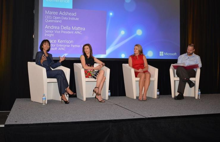 From left: Grace Kerrison (Microsoft), Andrea Della Matea (Insight), Maree Adshead (Open Data Institute)