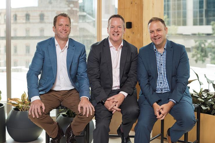 (LtoR): Icon's Peter Collett; Accenture's Scott Hanh and Icon's Paul Roddis