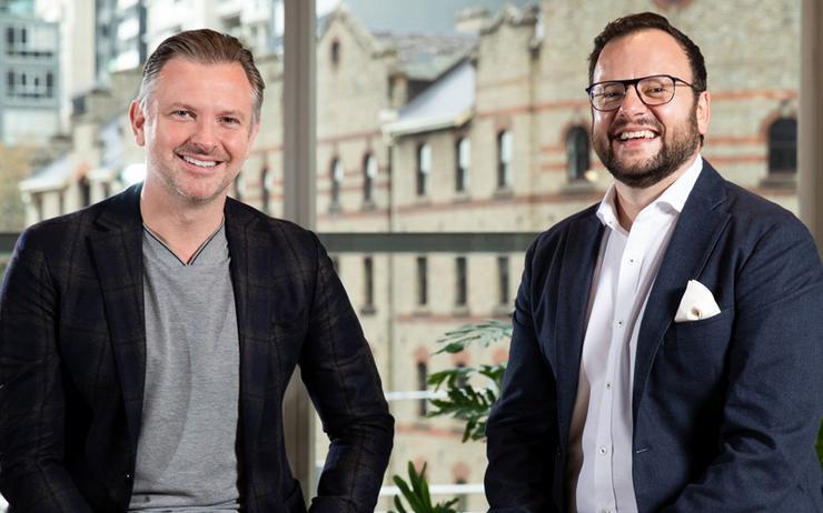 L-R: Matthew Coates (Accenture) and Con Zeritis (Industrie&Co)