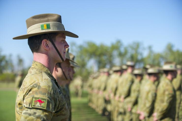 An Australian Army soldier from 5th Battalion, Royal Australian Regiment.