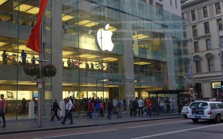 Apple's Sydney CBD store on George Street