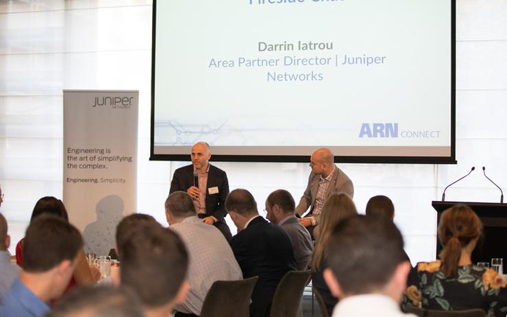 Darrin Iatrou (Juniper Networks) and James Henderson (ARN)