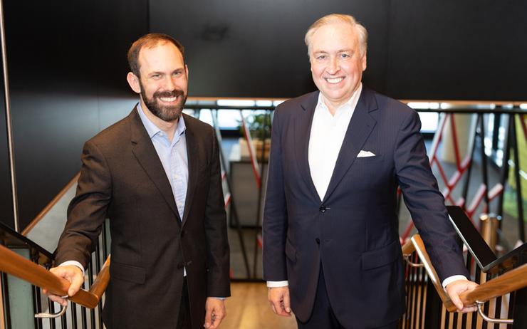 Dr Alex Bazin and Brad Freeman (Fujitsu)