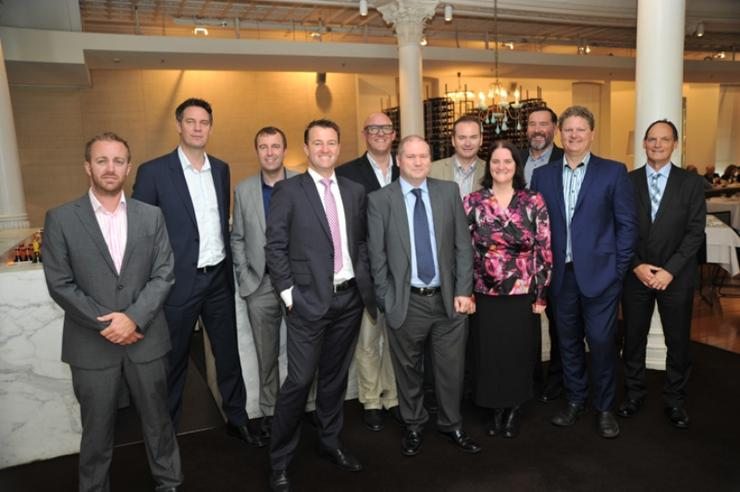From left: Allan Swann (ARN), Allan King (Infront Systems), James Sillence (EMC), Andrew Thomas (Thomas Duryea), Stefan Gillard (Engineroom.io), Rodney Gedda (Telsyte),