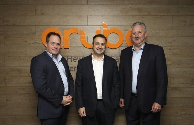Anthony Smith, Patrick Devlin and Steve Wood (Aruba)