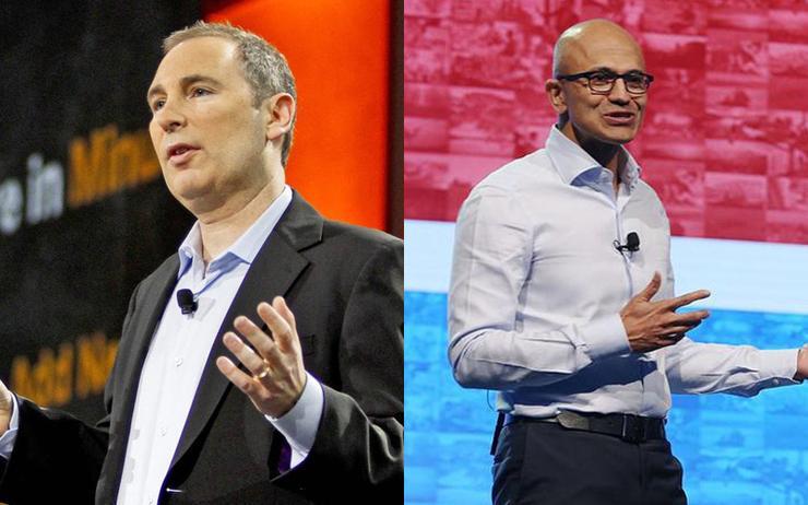 Andy Jassy (CEO - AWS) and Satya Nadella (CEO - Microsoft)