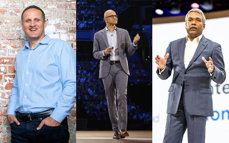 Adam Selipsky (CEO - AWS); Satya Nadella (CEO - Microsoft) and Thomas Kurian (CEO - Google Cloud)