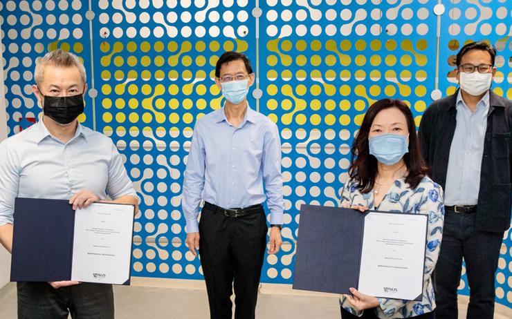 Professor Chen Tsuhan (NUS); Tan Lee Chew (AWS); Quek Gim Pew (Ministry of Defence) and Chen Guan Yow (Economic Development Board)
