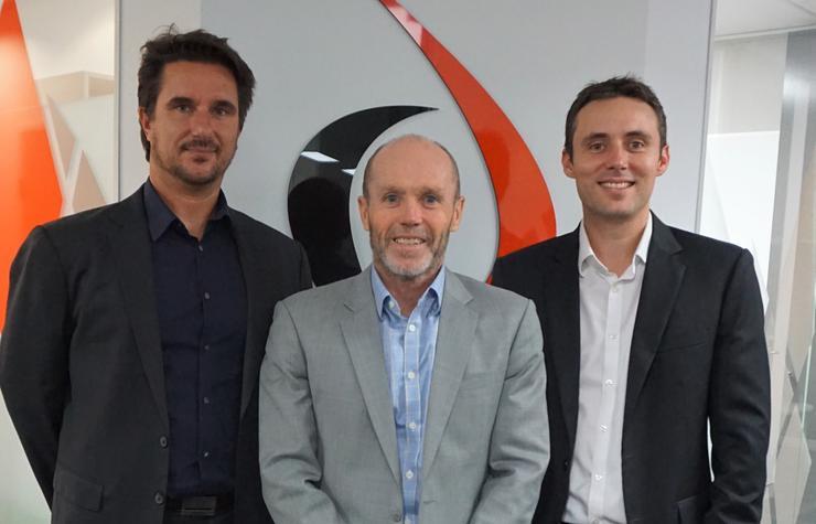 Bistech's Shane Morgan, Justin Hoareau and Brad Culbert.