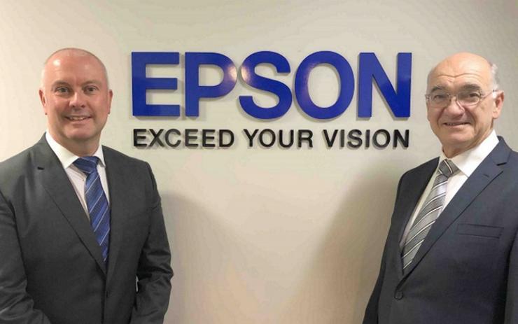 (L-R) Craig Heckenberg and Bruno Turcato (Epson)