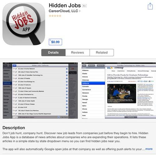CareerCloud's Hidden Jobs app mines public information about companies that hint at future hiring plans.