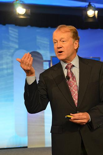 Cisco Systems Chairman and CEO John Chambers spoke on Tuesday at the company's annual financial analyst conference in San Jose, California.