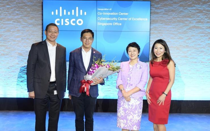 L-R: Irving Tan (Cisco); Chng Kai Fong (EDB); Miyuki Suzuki (Cisco) and Bee Kheng Tay (Cisco)