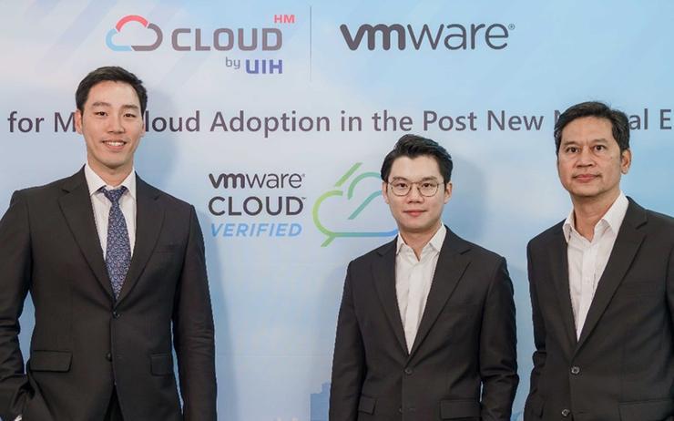 Benja Bencharongkul (UIH); Na-pajra Umpudh (Cloud HM) and Ekpawin Sukanan (VMware)