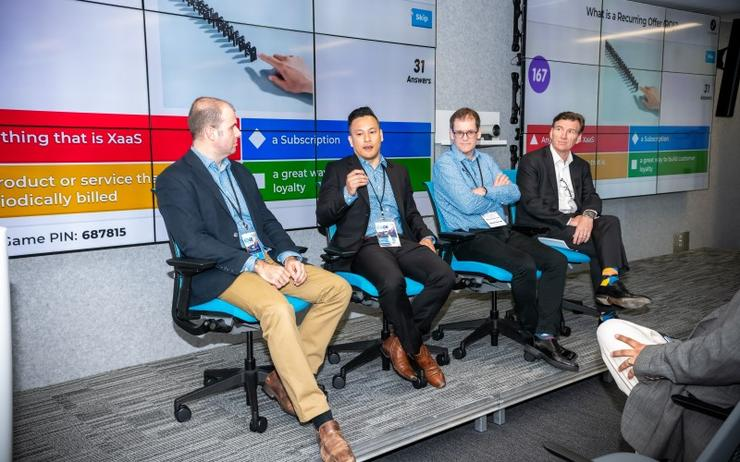 Westcon-Comstor's Edward Vincent, Marco Hermosura, Anthony Thompson and Cisco's Jason Brouwers