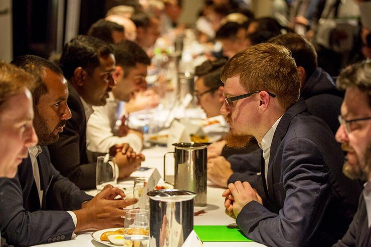 Industry and NSW Government representatives met with students from eight of the state's universities on Budget night for some cyber speed dating.