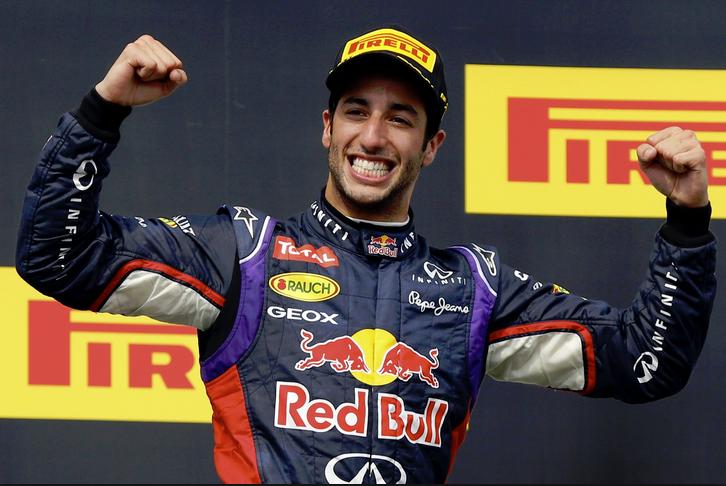 Australian Formula One driver Daniel Ricciardo
