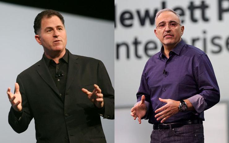 Michael Dell (CEO - Dell) and Antonio Neri (CEO - Hewlett Packard Enterprise)