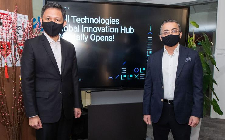 Chan Chun Sing (Singapore Minister for Trade & Industry) and Amit Midha (Dell Technologies)