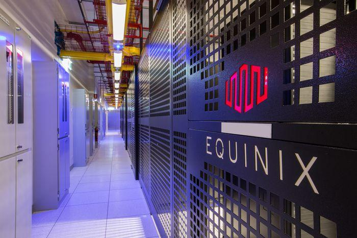 Inside Equinix's SY4 data centre.