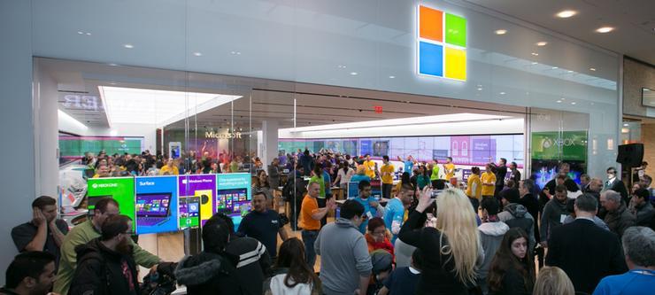 A US Microsoft store