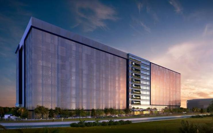 Artist impression of Facebook's first Asian Data Centre in Singapore with an expected completion date of 2022.