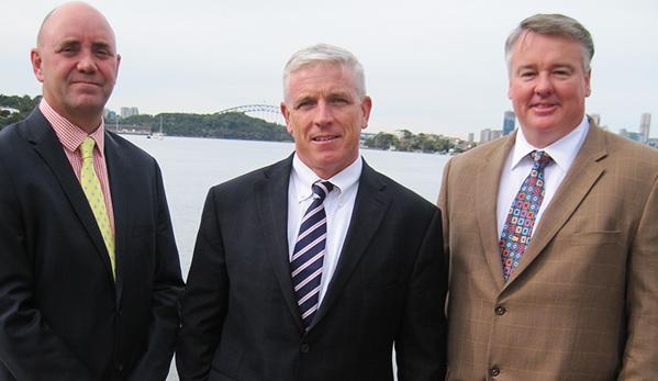 From left: Avnet's Michael Costigan, Phil Gallagher and Darren Adams