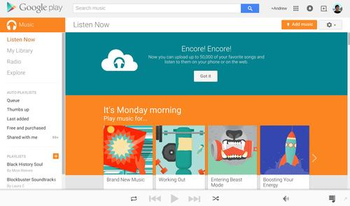 Google now lets users upload up to 50,000 songs to the cloud for free through its Play Music service.
