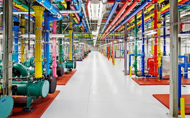 A Google data centre layout
