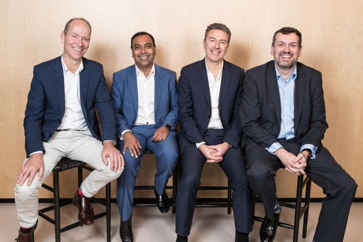 (L to R): Analytics8's Hedde Schuitemaker; Accenture's Amit Bansal; Analytics8's Jean-Christophe Richard and Alexander Brown