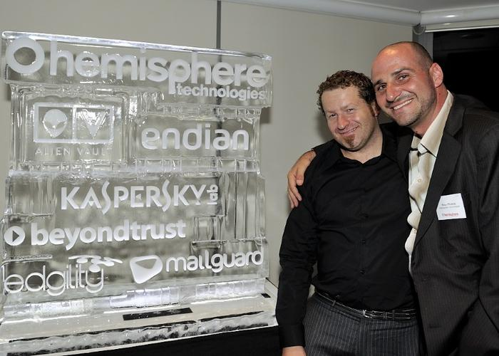 BeyondTrust regional manager, Nigel Hedges, with Hemisphere Technologies director, Peter Phokos.