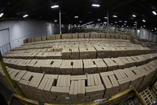 Over 16,000 seized counterfeit hoverboards sit in a warehouse in Chicago awaiting further processing by U.S. Customs and Border Protection. Credit: Kris Grogan/USCBP