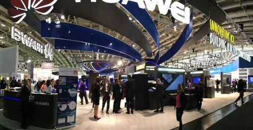 Huawei Technologies' giant stand at Cebit featured a vast range of enterprise storage, computing and networking hardware