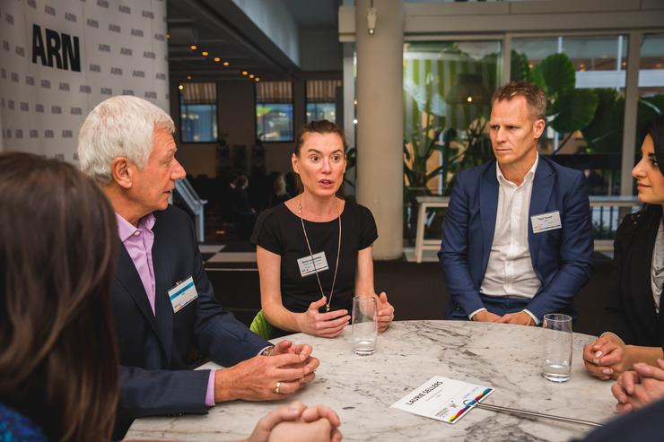 Laurie Sellers (rhipe), Gosia Luszpinska (ALE), Paul Turner (Zynet) at the inaugural Emerging Leaders forum