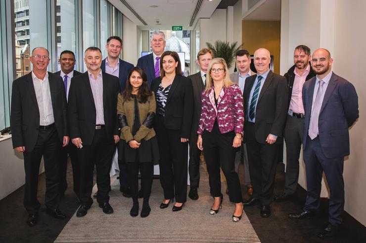 L-R: Craig Punshon (IBM); Brett Moorgas (HCL Australia Services); Peter Stein (Datacom); Allan King (Infront Systems); Hafizah Osman (ARN); Paul Timmins (UXC); Sonia Eland (CSC Services); Patrick Cheetham (Tech Mahindra); Narida Arnott (IBM); Greg Cassano (IBM); Phil Morris (ISI); Jan Zeilinga (KPMG) and James Henderson (ARN)