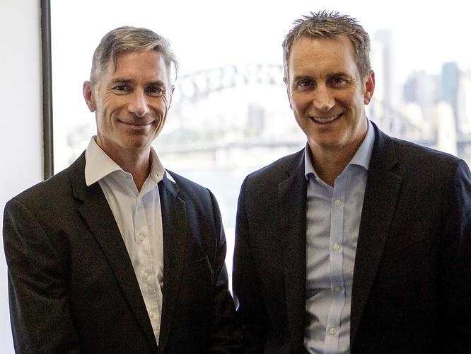 ForgeRock's new A/NZ and ASEAN regional vice-president, John Donovan and ForgeRock executive vice-president and general manager, Aled Miles. Photo: Mike Gee
