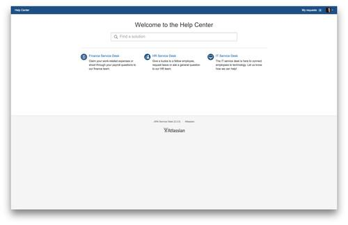 The unified portal in Atlassian's new JIRA Service Desk