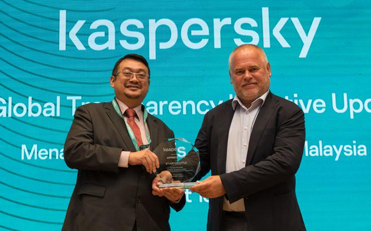 Dr. Amirudin Abdul Wahab (CyberSecurity Malaysia) and Eugene Kaspersky (Kaspersky)