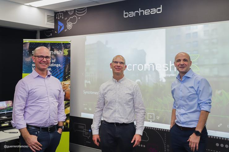 (L-R) Barhead CEO Ken Struthers, Cognian CEO Mark Blum and Barhead co-founder John Orrock.