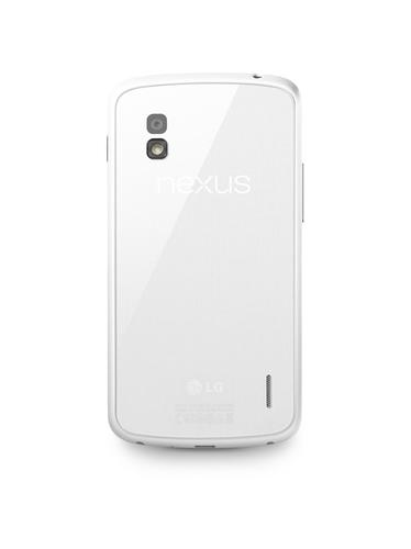 Nexus 4 white version: the back of the phone