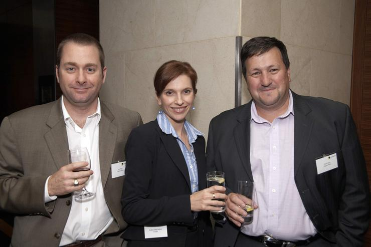 From left: Ingram's Jay Miley, Insight's Andrea Dellat Mattea and Ingram's David Lenz