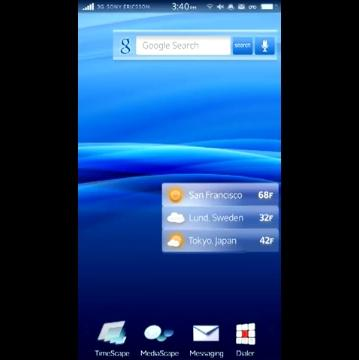 """Sony Ericsson has developed a custom interface for Android dubbed """"Rachel"""""""